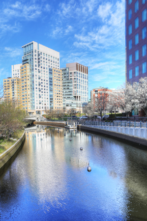 providence: A Vertical of Providence, Rhode Island city center Stock Photo