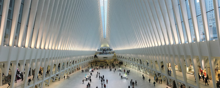 A Panorama of the Oculus in Manhattan