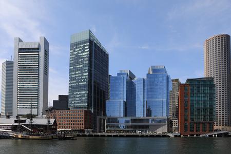 A View of the Boston, Massachusetts harbor skyline