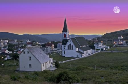 A Moon over Trinity, Newfoundland, Canada