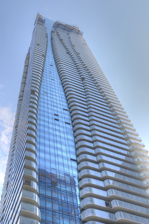 aura: The One Bloor Street Building in Toronto. This will be the second tallest residential building in Canada after the Aura. First occupancy is planned for fall of 2017. The height will be 257 m (844 ft).