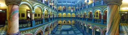 A Panorama view of the Atrium in the Rochester City Hall