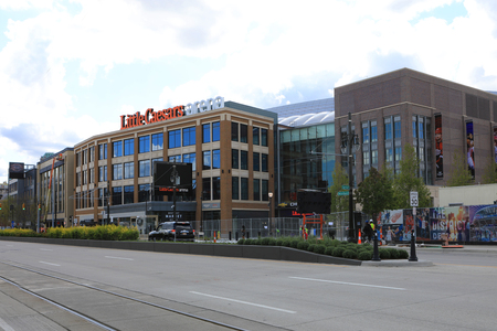 The new Little Caesars Arena in Detroit Michigan Editorial