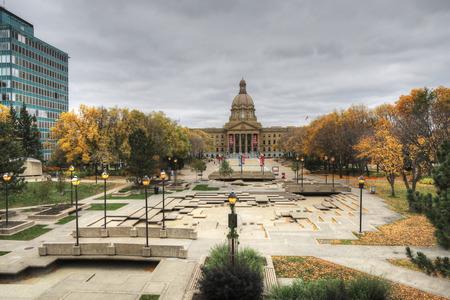 The Alberta, Canada legislature in autumn
