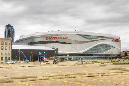 The Rogers Place, home to NHL Edmonton Oilers