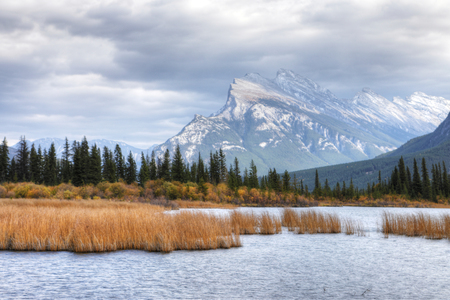 The Vermillion Lakes and Mount Rundle near Banff, Alberta Stock Photo - 89965291