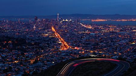 The San Francisco, California skyline at night