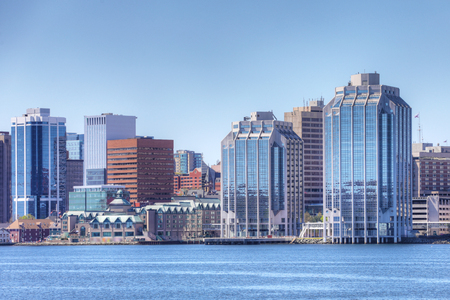 The Halifax, Nova Scotia skyline in the morning