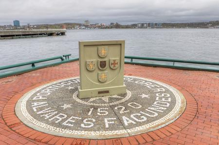 The First European Settlers Memorial in Halifax, Nova Scotia, Canada