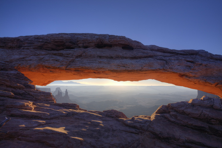 A Glow of Mesa Arch in Canyonlands National Park, Utah
