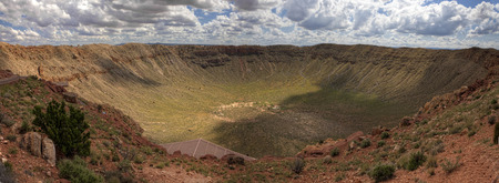 The Meteor Crater found in Arizona Stock Photo