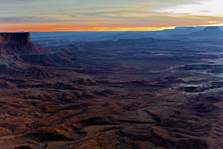 A Sunset in Canyonlands National Park, Utah