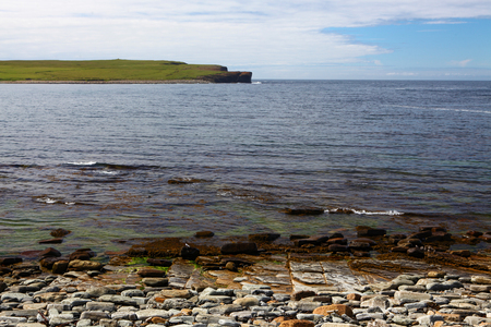 The Bay of Skaiil and the Hole of Roe, Orkney, Scotland