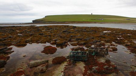 The Broch of Birsay from Marwich Bay, Orkney