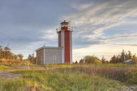 The Point Prim Lighthouse near Digby, Nova Scotia Imagens