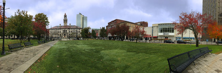 A Panorama of Worcester City Hall in Massachusetts