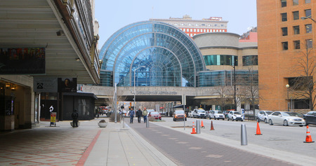 A View of Artsgarden Building in Indianapolis, Indiana Editorial