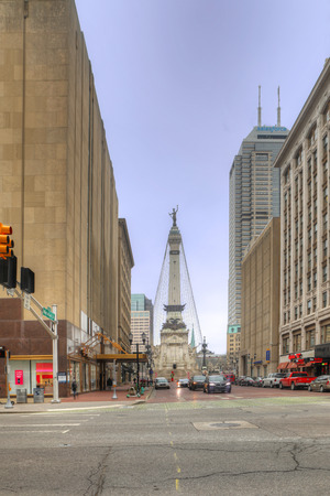 A Vertical of Soldiers and Sailors Monument, Indianapolis