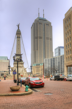 A Vertical scene of Soldiers and Sailors Monument, Indianapolis Editorial