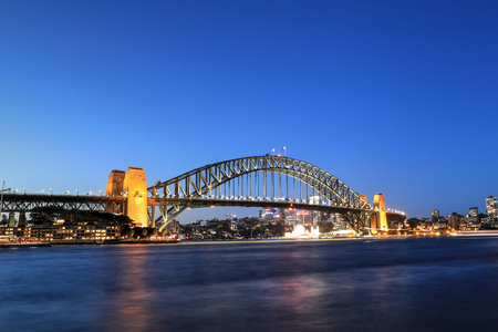 A View of Sydney Harbour Bridge at night