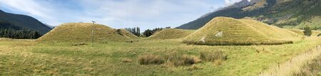 A Panorama view mound formations New Zealand Stock fotó