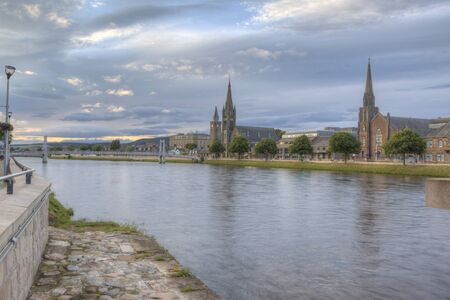 A Day scene of Inverness, Scotland along the River Ness Stock fotó