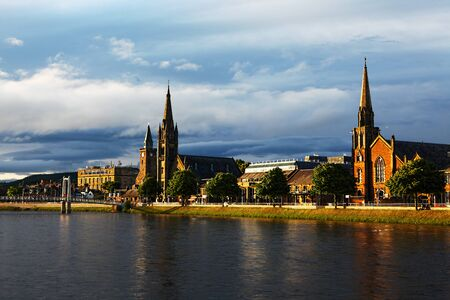 A View of Inverness, Scotland along the River Ness