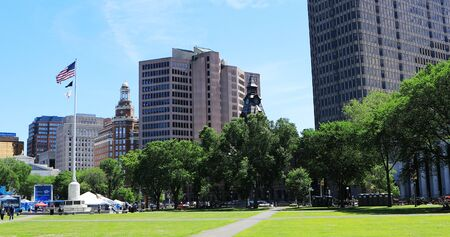 A Scene of downtown New Haven, Connecticut, United States Stock fotó