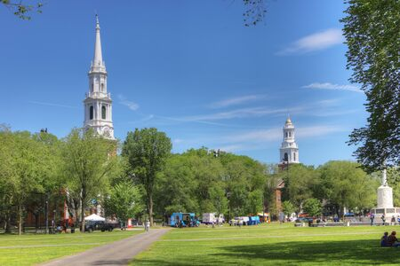 A View of downtown New Haven, Connecticut, United States