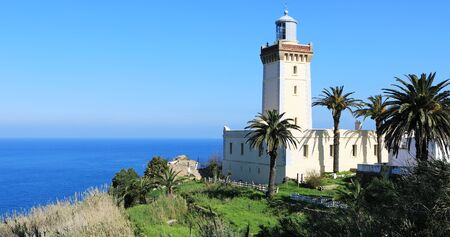 The Phare Cap Spartel Lighthouse near Tangier in Morocco