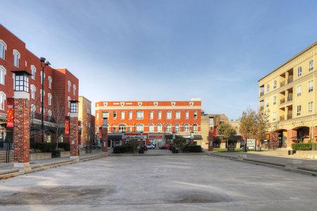 View of Harmony Square in Brantford, Ontario, Canada Editorial