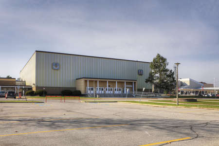 The Brantford and District Civic Center in Brantford, Ontario, Canada Editorial