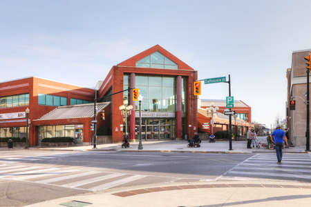A View of the the downtown area in Brantford, Ontario, Canada Editorial