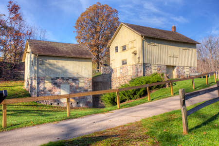 View of Parker Mill in Michigan, United States. This Grist Mill was built in 1871 at the sight of a previous sawmill Editorial