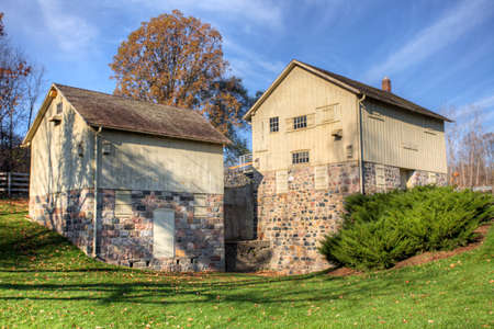 Parker Mill in Michigan, United States. This Grist Mill was built in 1871 at the sight of a previous sawmill