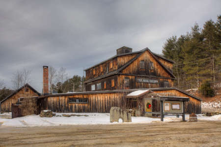 Londonderry Mill in Vermont, United States. It has since been occupied by a tavern Editorial