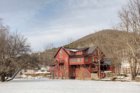 View of Chester Mill in Vermont, United States. It is currently a B&B Editorial