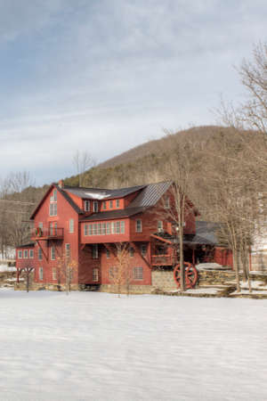 Vertical of Chester Mill in Vermont, United States. It is currently a B&B