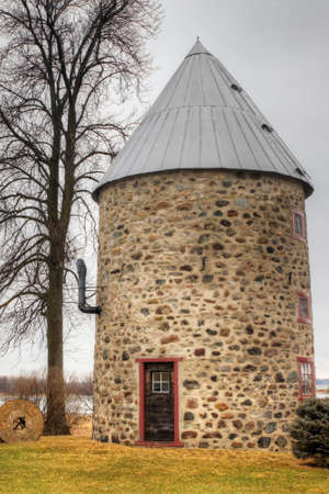 The Moulin Chaput, a Stone Windmill from Quebec, Canada. Built 1742 on a French design