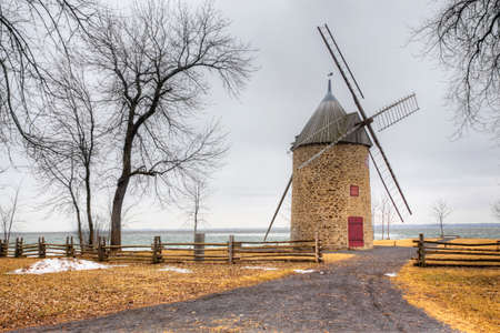 The Pointe-du-Moulin, a Stone Windmill from Quebec, Canada. Built 1702 on a French design
