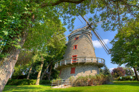The Moulin Fleming, a Stone Windmill from Quebec, Canada. Built 1827 on a French design Editorial