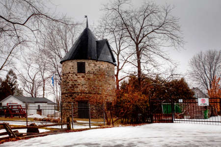 The Moulin Antoine-Jett, a Stone Windmill from Quebec, Canada. Built 1823 on a French design Editorial