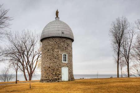 Moulin de l'ÃŽle Saint-Bernard, a Stone Windmill from Quebec, Canada