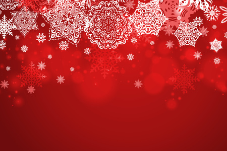 Empty Christmas theme background. Colorful, festive decoration. 3D rendering.