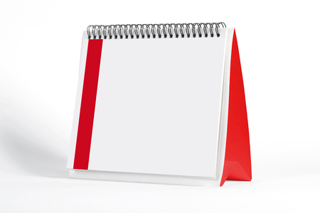 2019 empty page of a desktop calendar on white background. 3D Rendering.