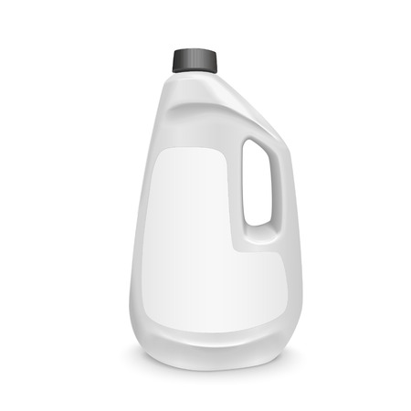 blank laundry detergent bottle isolated over white background