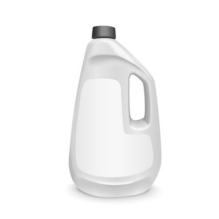 blank laundry detergent bottle isolated over white background