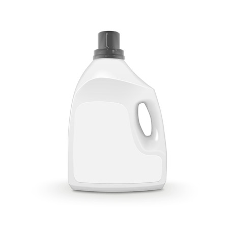 plastic bottles: plastic detergent container isolated on white background Illustration