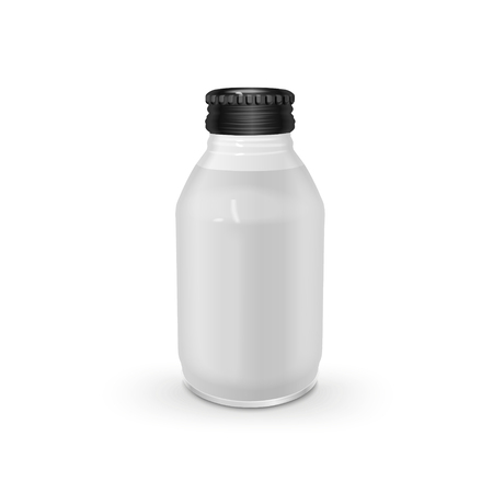 wares: exquisite glass bottle isolated on white background