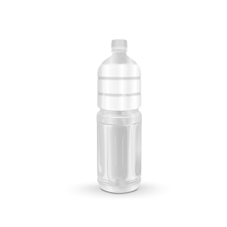 blank label: plastic beverage bottle with blank label isolated on white background Illustration